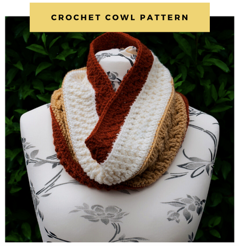 Sunflower Cottage Crochet Mixed Toffee Cowl Straight Hooked