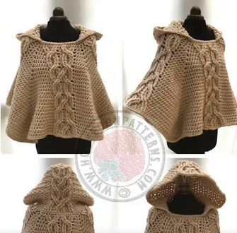 Straight Hooked Milena Hooded Poncho Hooked on Patterns