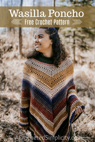 Straight Hooked Wasilla Poncho A Crocheted Simplicity