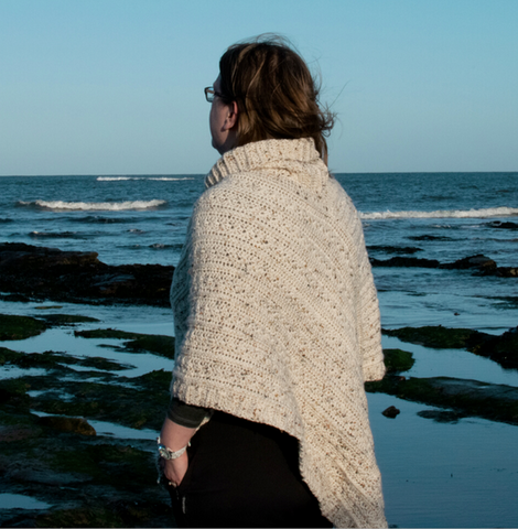 Straight Hooked Robin's Poncho Sunflower Cottage Crochet