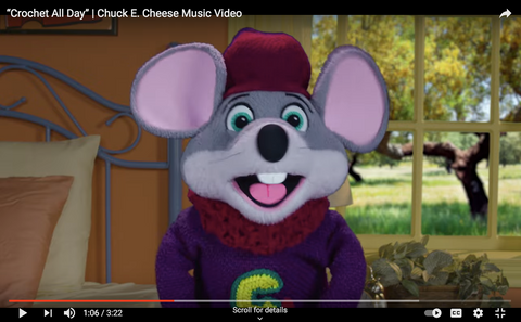 Chuck E. Cheese Youtube Crochet All Day Straight Hooked Sweater