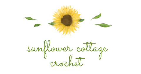 Straight Hooked Sunflower Cottage Crochet Logo