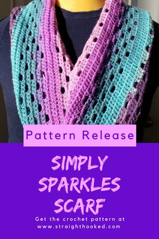 Straight Hooked Simply Sparkles Scarf