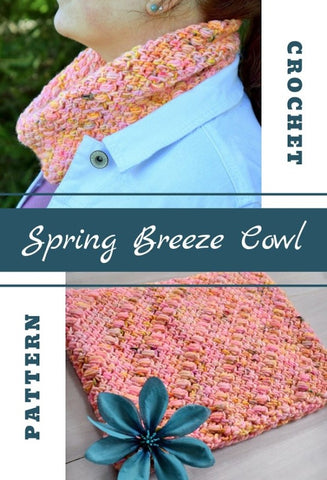 Spring Breeze Cowl Simply Hooked by Janet Straight Hooked