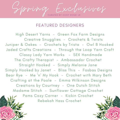 Spring Exclusives Curated by Cosy Rosie UK participants