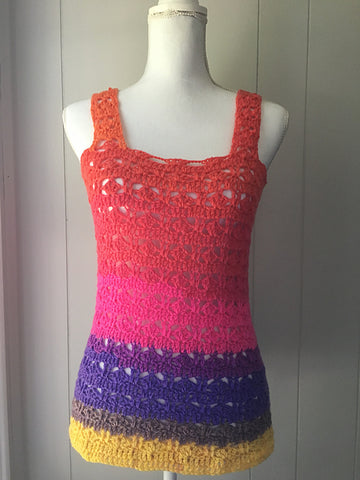 Summer of Love Tops Jo's Crafty Hook Straight Hooked