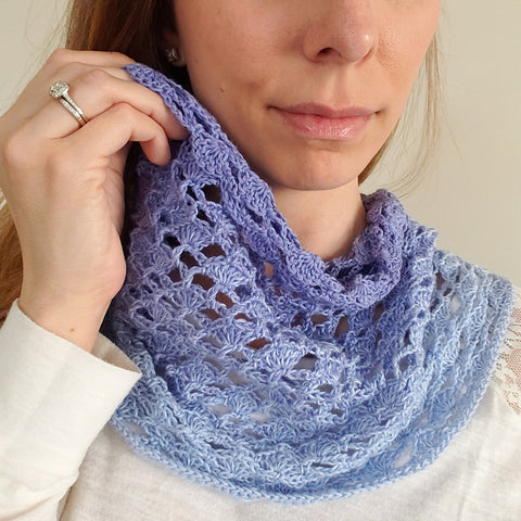 Theresa's Springtime Cowl Wish Upon a Hook Straight Hooked