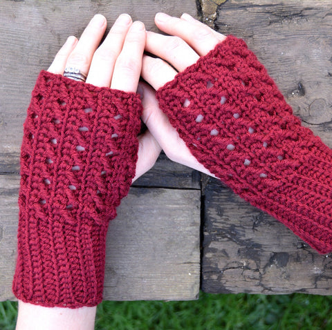 Winter Silk Mitts HanJan Crochet