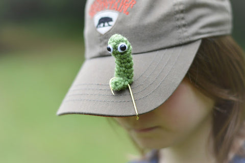 Straight Hooked Worm on a Hat Hook With Alex