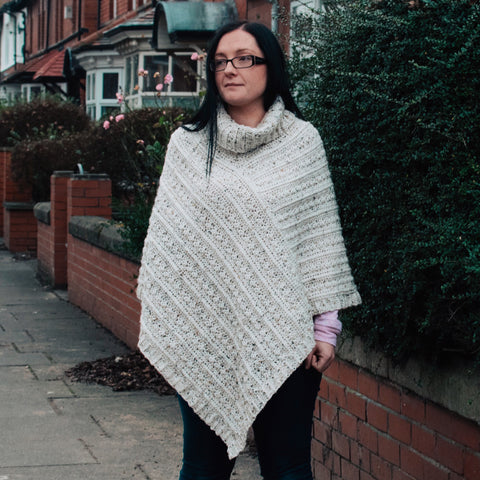 Straight Hooked Poncho Sunflower Cottage Crochet
