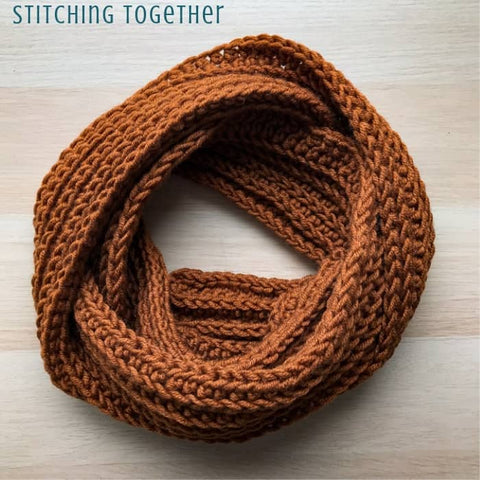 Straight Hooked Entirely Easy Men's Scarf Stitching Together