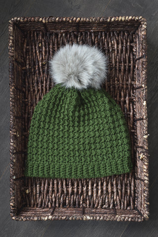 Even Moss Beanie Desamour Designs