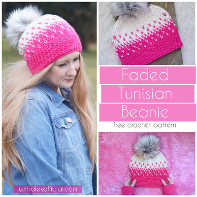Straight Hooked Faded Tunisian Beanie With Alex