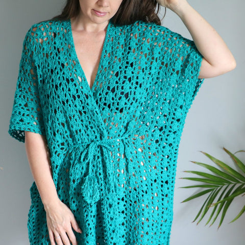 Straight Hooked Crochet Lacy Days Kimono MJ's Off The Hook