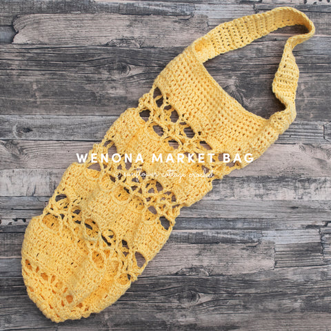 Straight Hooked Wenona Market Bag Sunflower Cottage Crochet