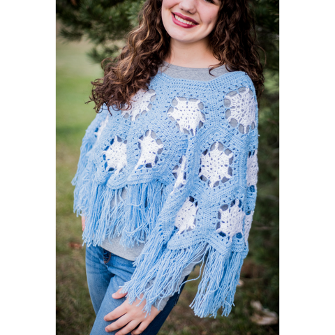 Snowflake Poncho My Fingers Fly
