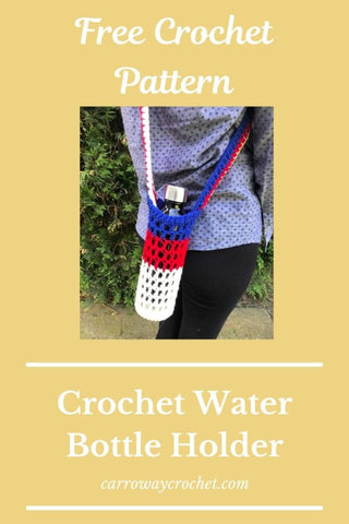 Straight Hooked Water Bottle Holder Carroway Crochet