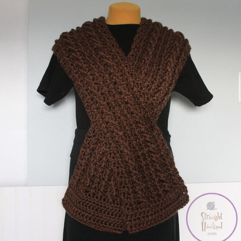 Diana Oversized Cable Scarf