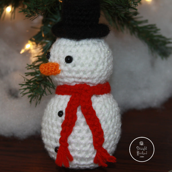 Crocheted Sparkle Snowman