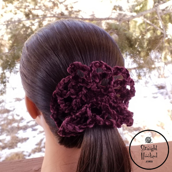 Grace Scrunchie Eggplant