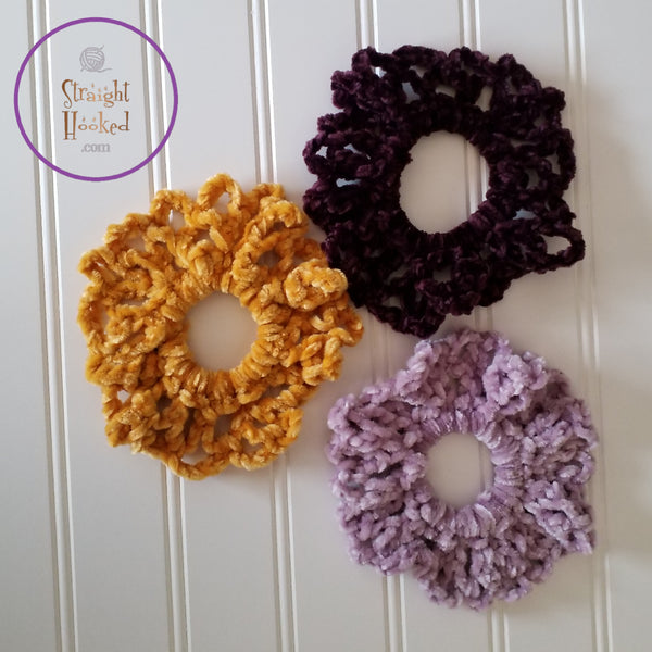 Grace Scrunchie Marigold Eggplant Rose