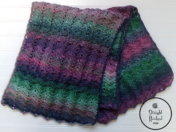 Mermaid Waves Shawl crochet pattern