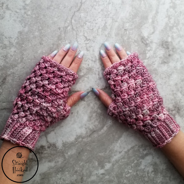 Ice Cap Fingerless Gloves crochet pattern