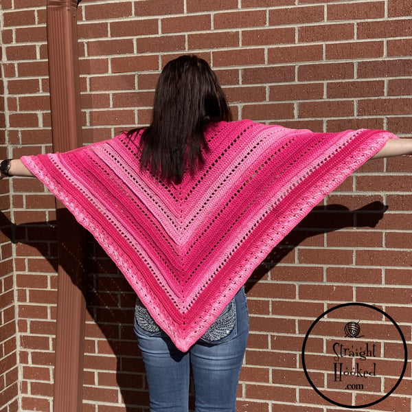 Radiant Ridges Shawl crochet pattern