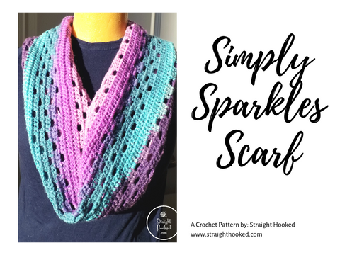 Simply Sparkles infinity scarf crochet pattern