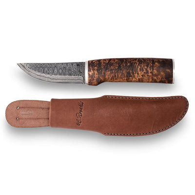 Hunting knife, Damascus