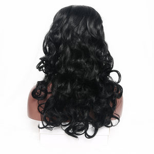 22 Inch Long Body Wave Synthetic Wig for Women Side Part - Black, Brown