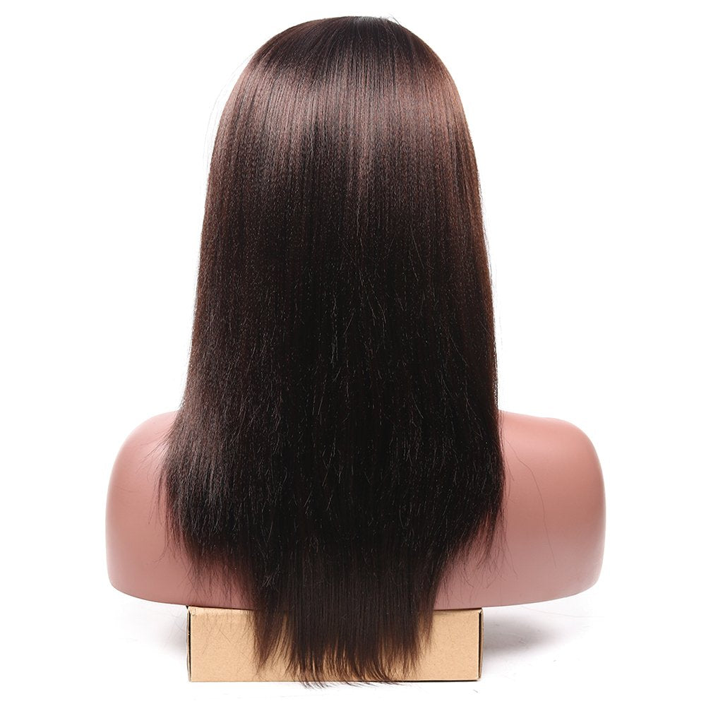 Straight Medium Long Heat Resistant Synthetic Side Part Hair Replacement Wig 20inch
