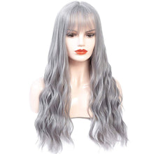 Load image into Gallery viewer, Aoert Long Wavy Wig With Air Bangs - Full Heat Resistant Synthetic Fiber