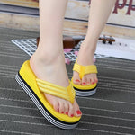 High Heel Flip Flops Female SLIPPER Anti-slip