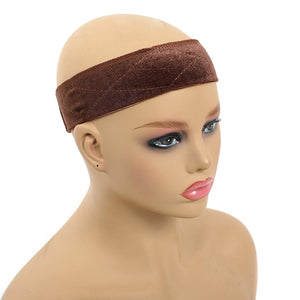 Wig Grip Band Velvet Non Slip Wig Bands with Adjustable Hook and Loop Fastener Extra Breathable Thin Head Hair Band With 3 Wig Cap