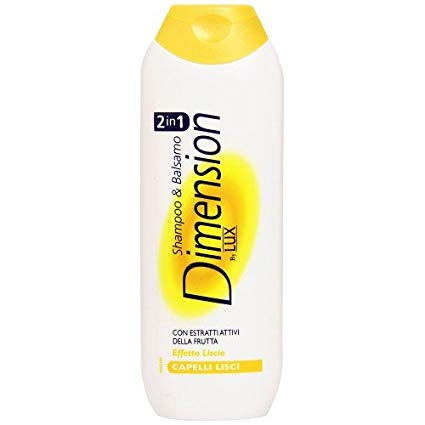 Dimension- 2 in 1 Shampoo Balsamo Capelli lisci 250ml