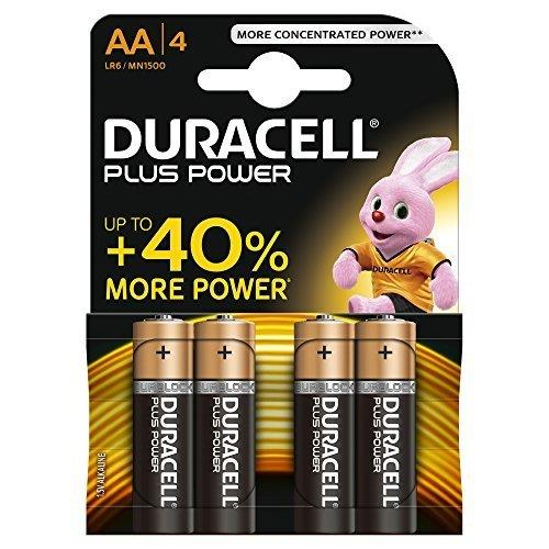 Duracell- Batteria Stilo Plus Power AA 4pz