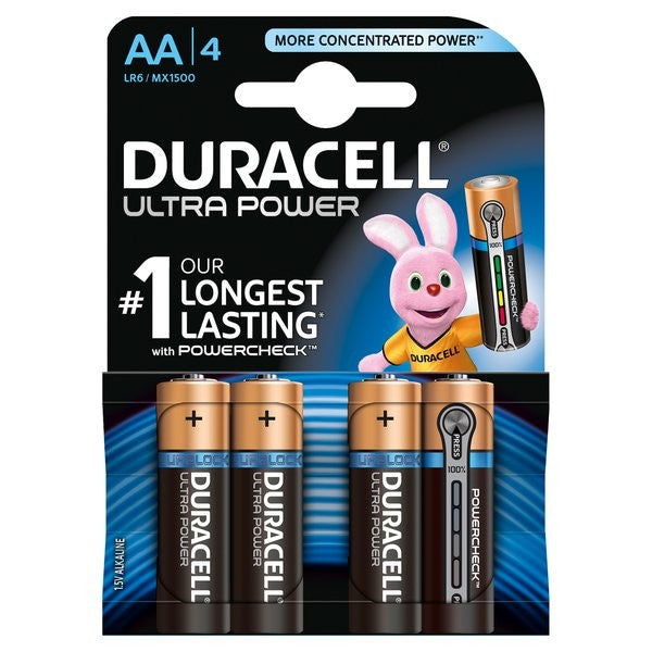 Duracell- Batteria Stilo Ultra Power AA