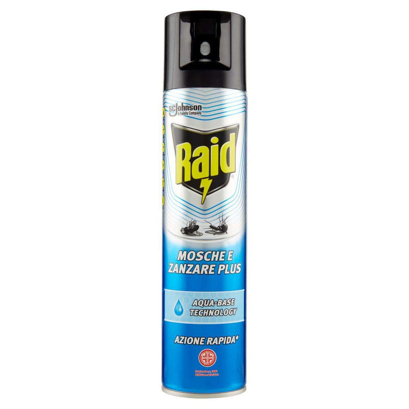 Raid- Insetticida Spray Mosche e Zanzare Plus 400ml