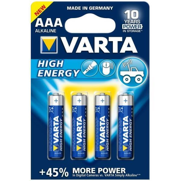 Varta-Batteria High Energy AAA ministilo 4pz