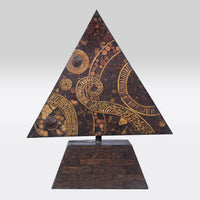Wooden Inlay Triangle Artifact- Big