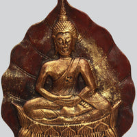 Buddha On Leaf Tabletop Stand