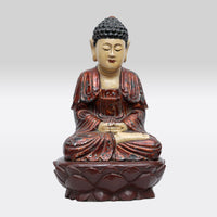 Antique Wooden Sitting Buddha