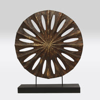 Wooden Round Panel on Stand- 14""