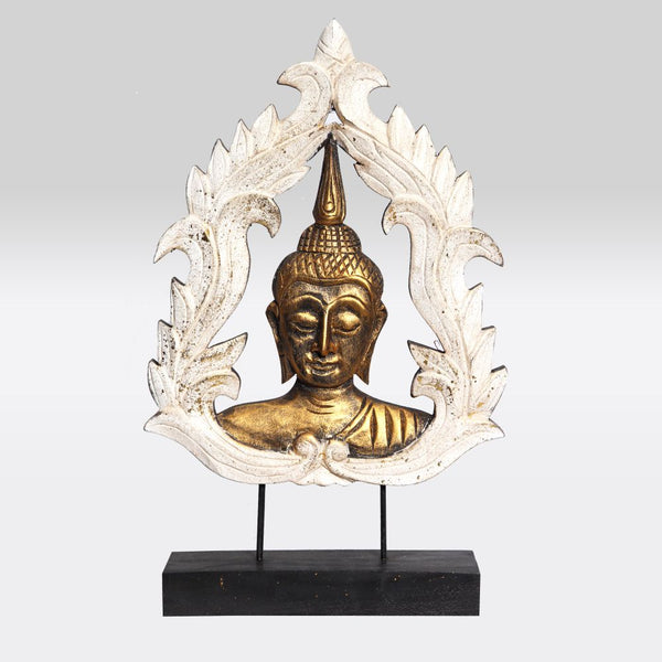 Buddha Bust with Kranok on Stand