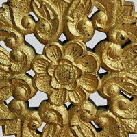 Carved Wooden Flower Motif on Stand