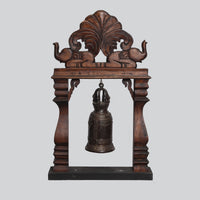 Wooden Elephant Stand with Bell