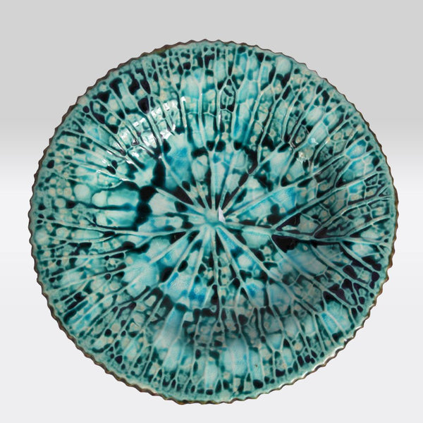 Blue Marbled Small Serve Plate