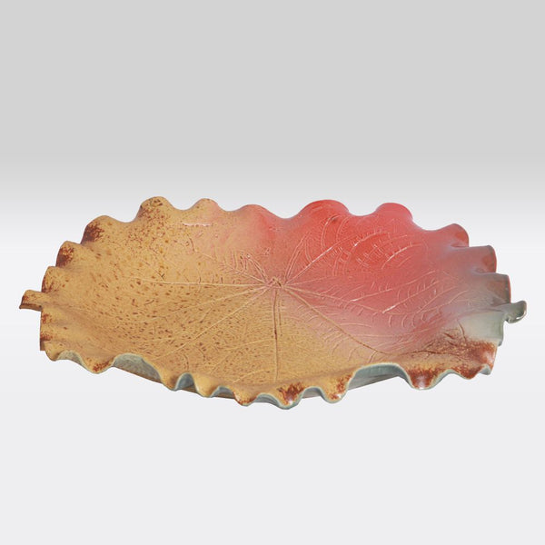 Warm Leaf Serving Bowl