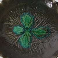 Ceramic Leaf Serving Plates with Stand